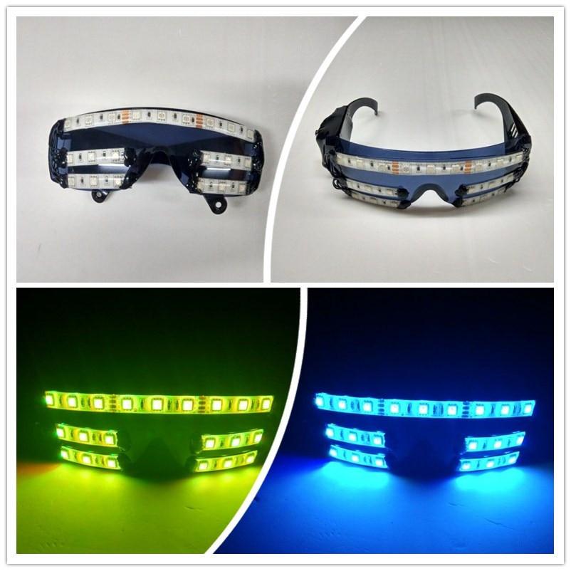 Wecool 도매 빛나는 파티 클래식 장난감 장식 파티 마스크 안경 2015 새로운 패션 라이트 플래시 led 안경