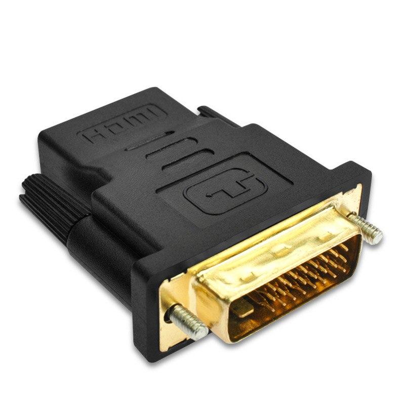 Dvi 24 + 1 para hdmi adaptador cabos 24k banhado a ouro plugue macho para fêmea hdmi para dvi conversor de cabo 1080p para hdtv projetor monitor