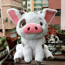 New Authentic Moana Maui Heihei pet pig Pua Soft stuffed Plush Toy Doll Movie Princess soft toys 45cm Large
