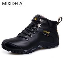 MIXIDELAI nouvelle piste de route 2018 hommes bottes de neige imperméable chaussures pour hommes hiver bottines fourrure respirant hommes chaussures dhiver 3 couleurs