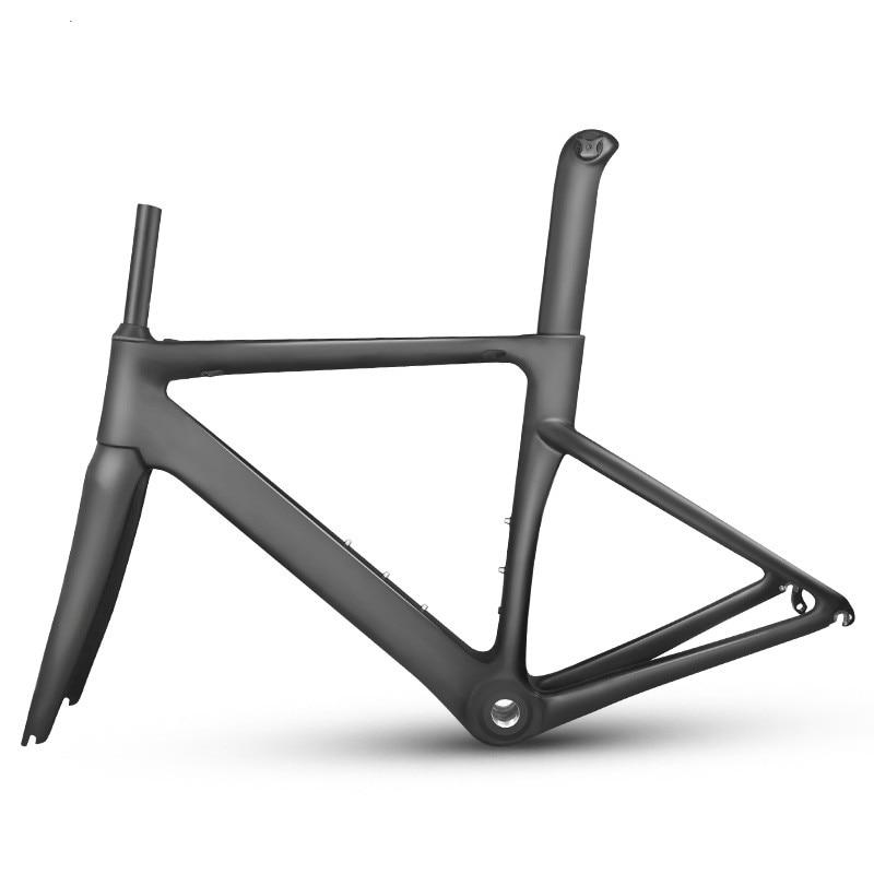 MTB, nuevo cuadro de fibra de carbono para carretera, Marco mecánico para bicicleta, marco de carbono para bicicleta, horquilla, tija de sillín y auriculares, bicicleta de carretera de carbono
