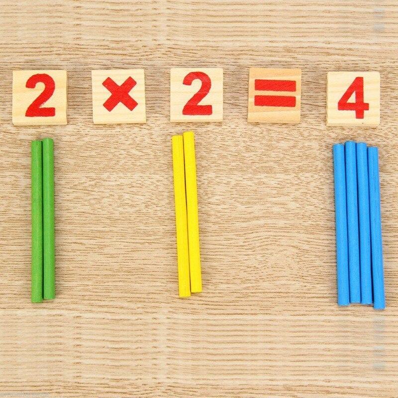 Matemática inteligencia palo educativos Digital de madera símbolos de los niños de juguetes Venta caliente