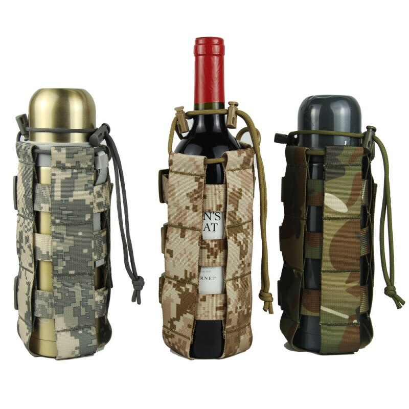 0.5L-2.5L тактический Молл сумка для бутылки воды Оксфорд военный чехол для фляги кобура открытый дорожный чайник сумка с системой Molle