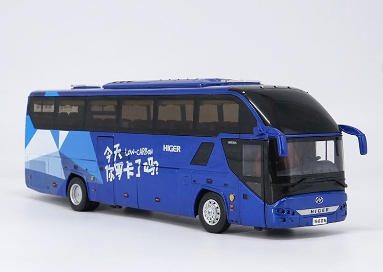 Alloy Model Gift 1:42 Scale KingLong Higer H92 KLQ6125B Travel Transit Bus Vehicle DieCast Toy Model Collection Decoration alloy model 1 24 scale kinglong higer bev pure electric transit bus vehicle diecast toy model for collection decoration
