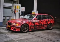large red black camouflage vinyl car wrap foil snow camo air free boat truck vehicle cover wrapping