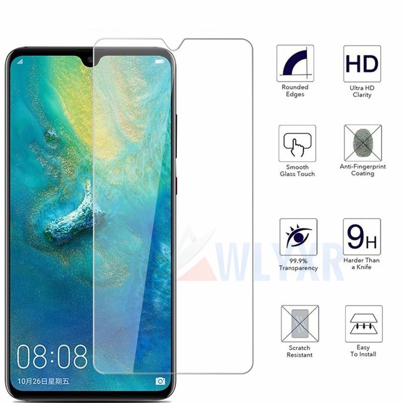 Vidrio templado para Huawei Mate 20 X P20 30 Honor 10 Lite Protector de pantalla vidrio Protector transparente para Y6 7 Y9 P Smart 2019