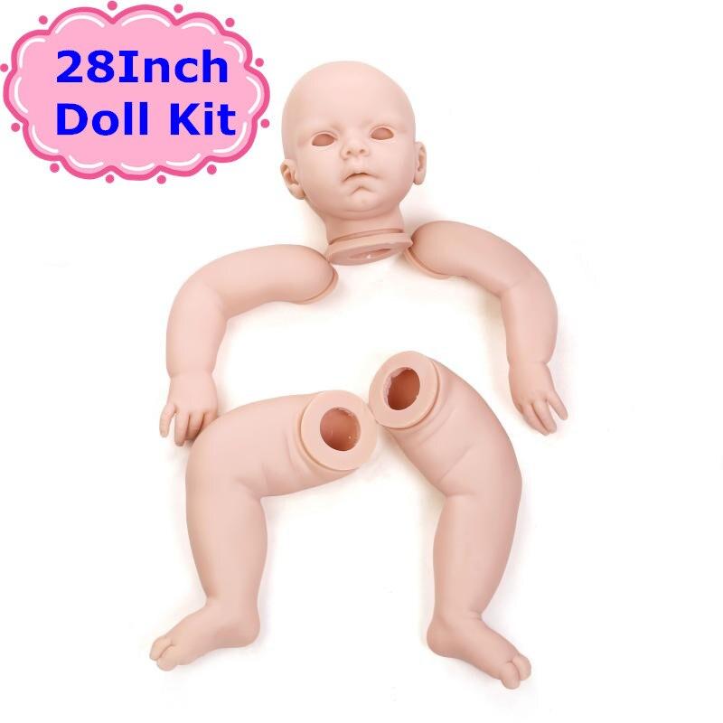 ¡Novedad! Kit de muñeco realista de vinilo de silicona NPK de 70cm para hacerlo tú mismo, Reborn muñeca de 28 pulgadas, accesorios de muñeca de buena calidad para niños