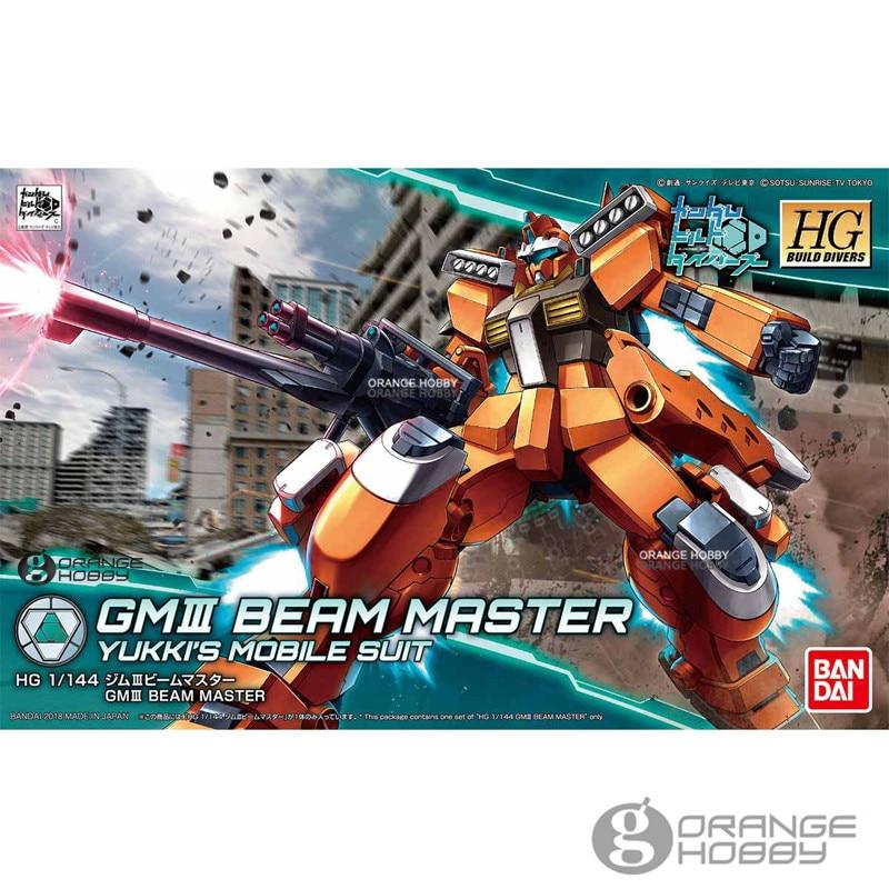 Bandai HG construir los buzos 002 1/144 GM III rayo maestro Yukki móvil traje asamblea modelo Kits