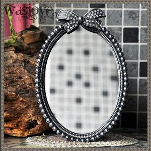 European retro bow-knot small tabletop mirror small vanity mirror for girl gift decorative table mirrors for home decor J026