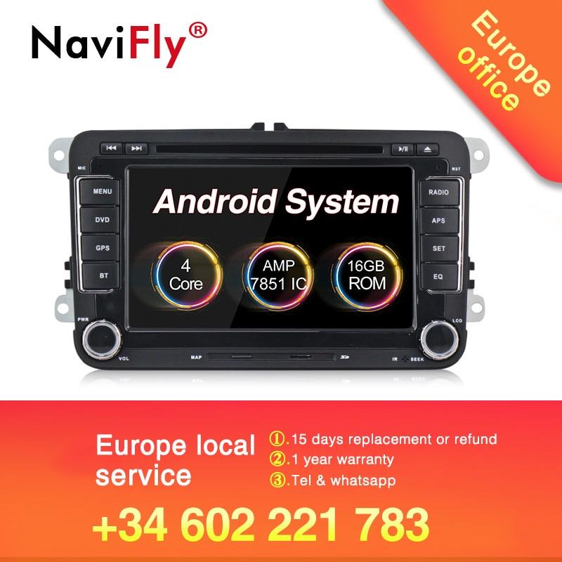 Gran oferta 2019! Navifly sistema android 8,1 auto radio estéreo para Volkswagen/polo/Passat B6/GOLF/5/CC/SHARAN/BORA/JETTA
