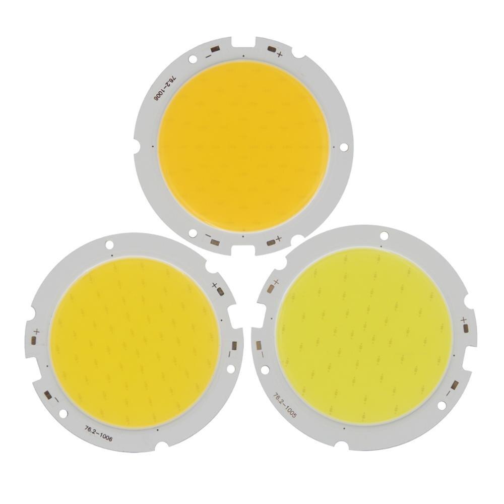 5PCS 76mm 60mm 30W Round cob led strip Light bulb lamp Source 100LM/W High Power Module Warm Nature White for downlight led cob
