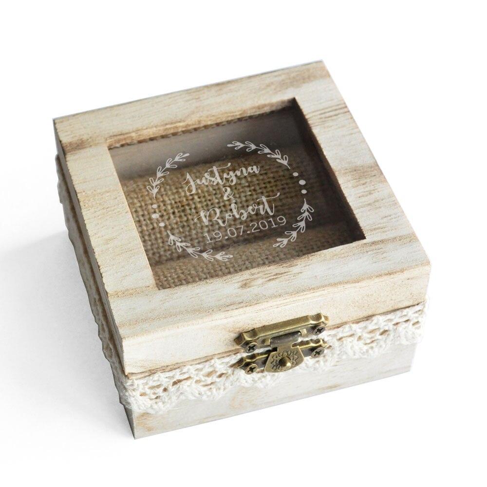 Коробка для обручального кольца на заказ, коробка для обручального кольца на заказ, держатель для кольца в деревенском стиле, коробка для по...