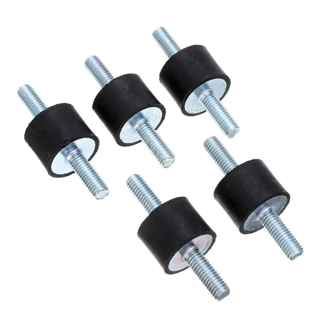 5 шт., антивибрационные резиновые крепления, амортизаторы, Bobbins Silentblock M6 15x20 мм Mayitr для воздушных компрессоров