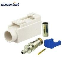 Autoradio Superbat avec connecteur dantenne fantôme Fakra B blanc/9001 Jack femelle à sertir pour câble Coaxial RF RG316 RG174 LMR100