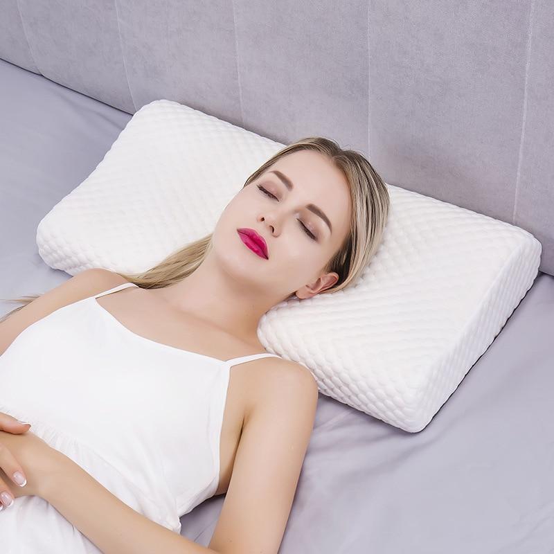 Almohada ortopédica de espuma viscoelástica para el cuello, almohadas masajeadoras para coxis cervicales, para dormir, rebote lento, cuidado de la salud, ropa de cama con alivio del dolor