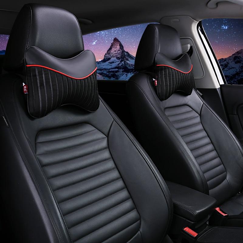 Car Neck Pillow Seat Back Support Cushion Seat Cover Headrest Lumbar Pillow Nap Pads Car Care Auto A