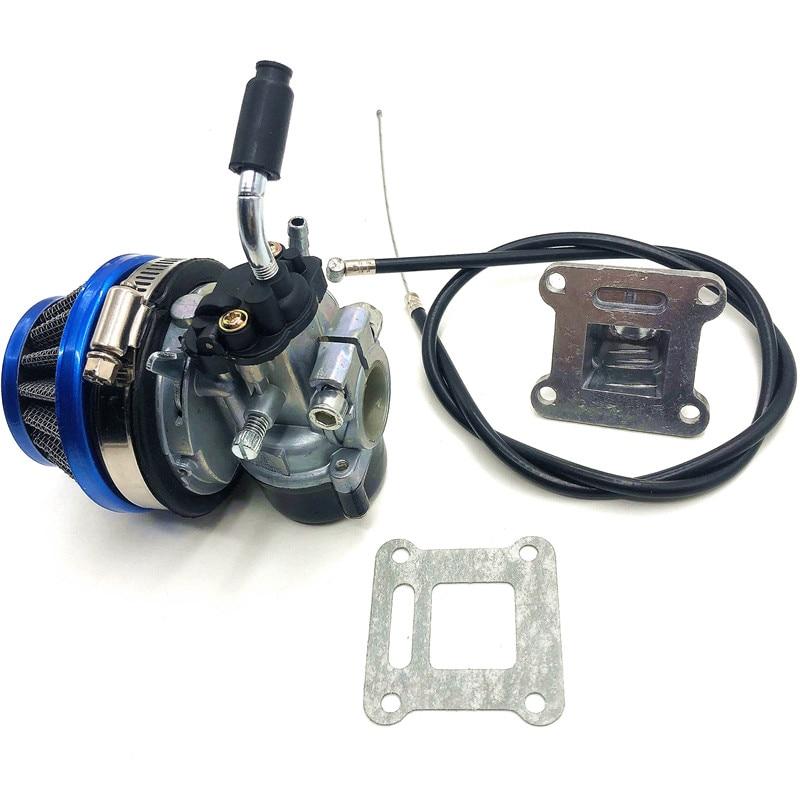 ATV 49cc Performance 19mm Carb Carburetor Air Filter Mainfold Assembly for 2-stroke 47cc 49 Cc Mini Pocket Bike