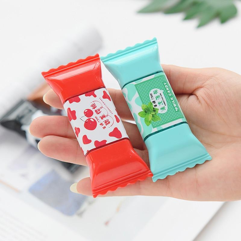 Cinta correctora bonita y creativa con frutas Kawaii, dulces estilo leche para útiles escolares para niños, papelería coreana, regalo para estudiantes