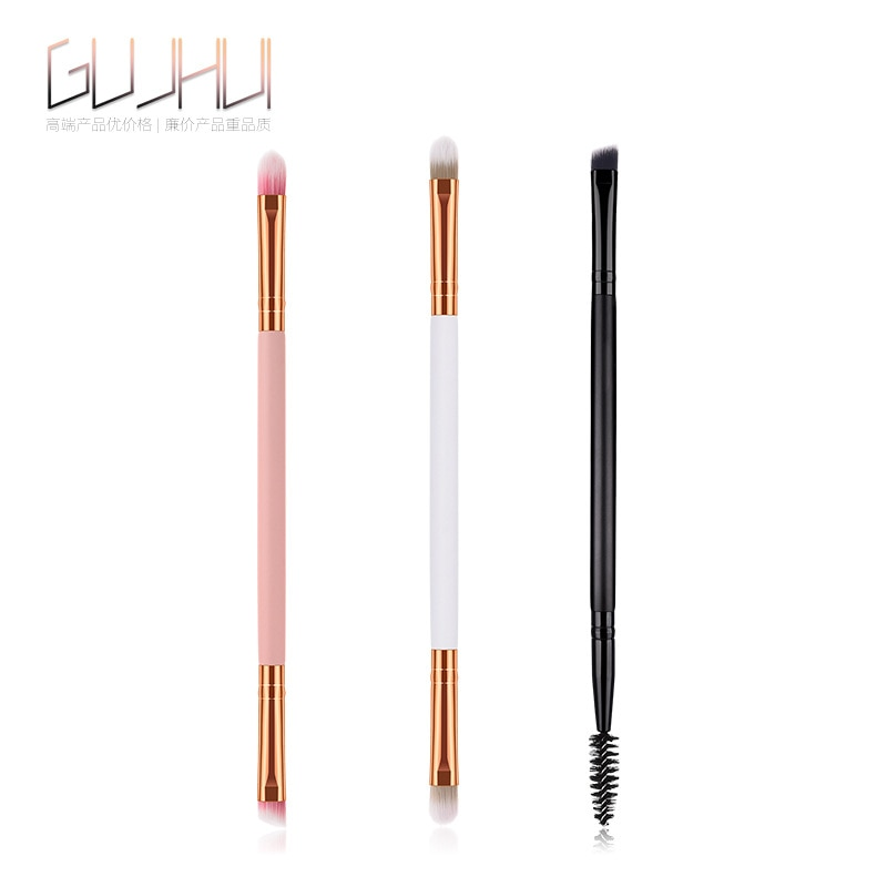 1 pcs Double head Eye Makeup Brush Nylon Fiber Eye Shadow Brush Eyebrow foundation Brush Cosmetic Brush Cosmetics Tool Concealer