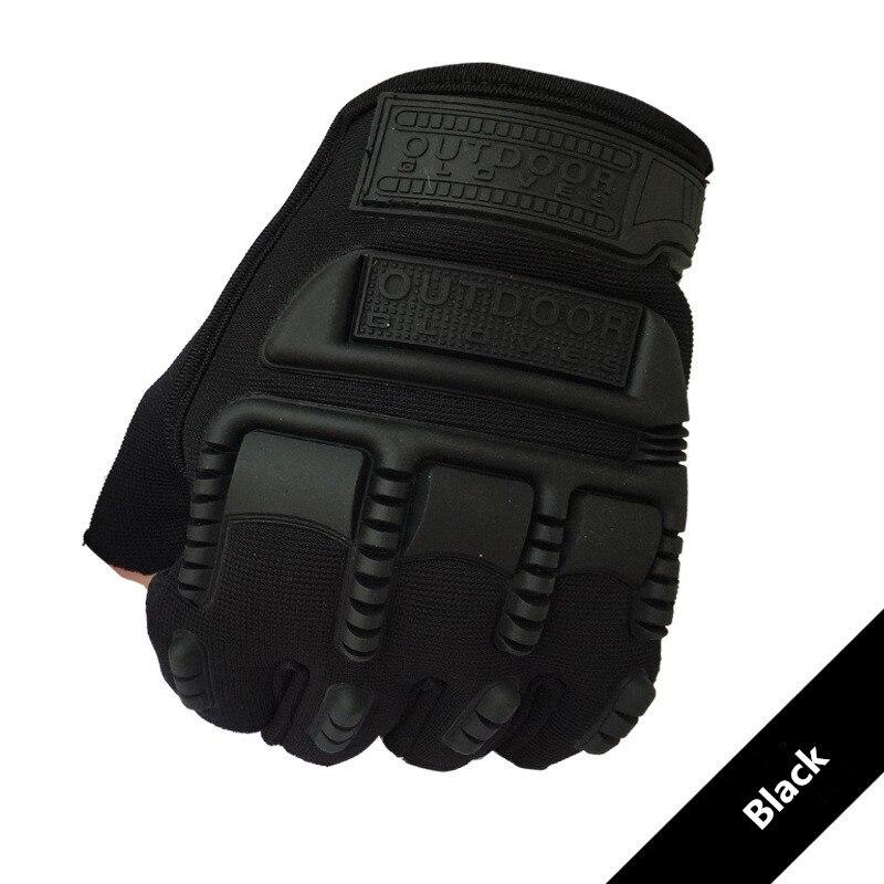 Guantes tácticos para hombres, guantes de nudillo duro con medio dedo militar para disparar, luvas de motocicleta Airsoft, rekawiczki taktyczne