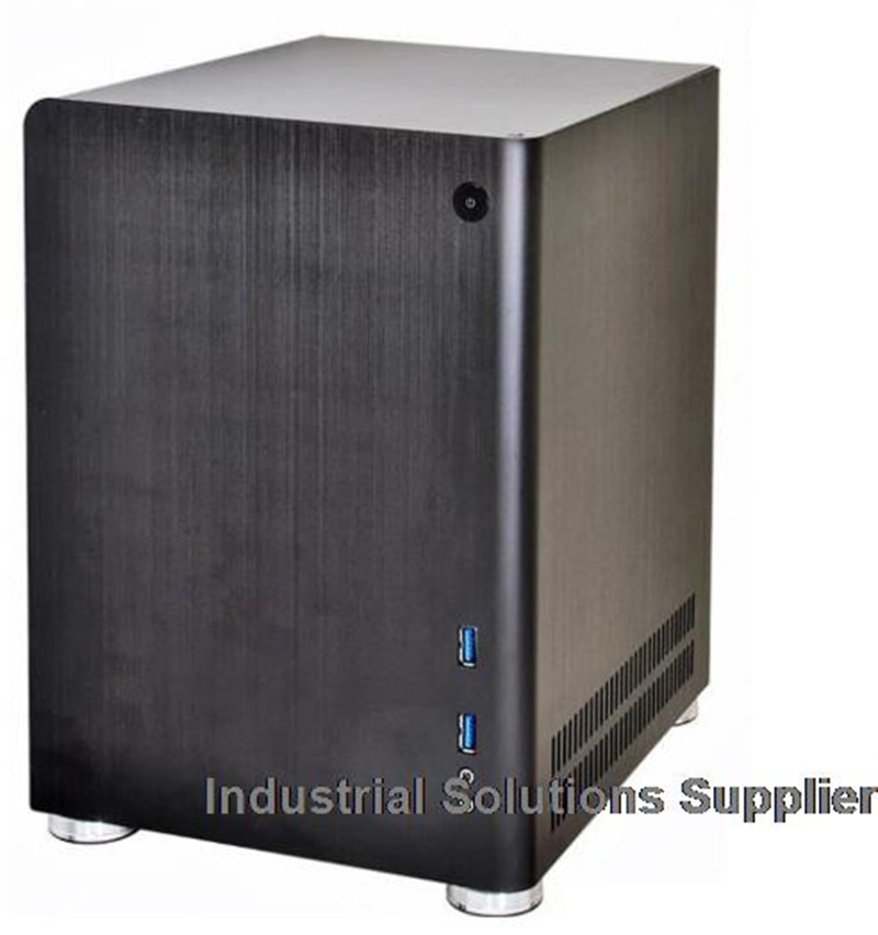 New PC-Q01 Black Silver Aluminum ITX Mini Case