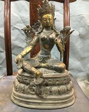 13Pure rouge cuivre Lotus siège de base tibétain buddhiam bouddha vert Tara Guanyin