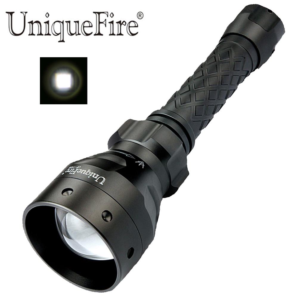 Linterna LED UniqueFire 1405 potente 1200LM XM-L2 67mm lente antorcha lámpara alimentada por batería 18650/26650 (no incluida)