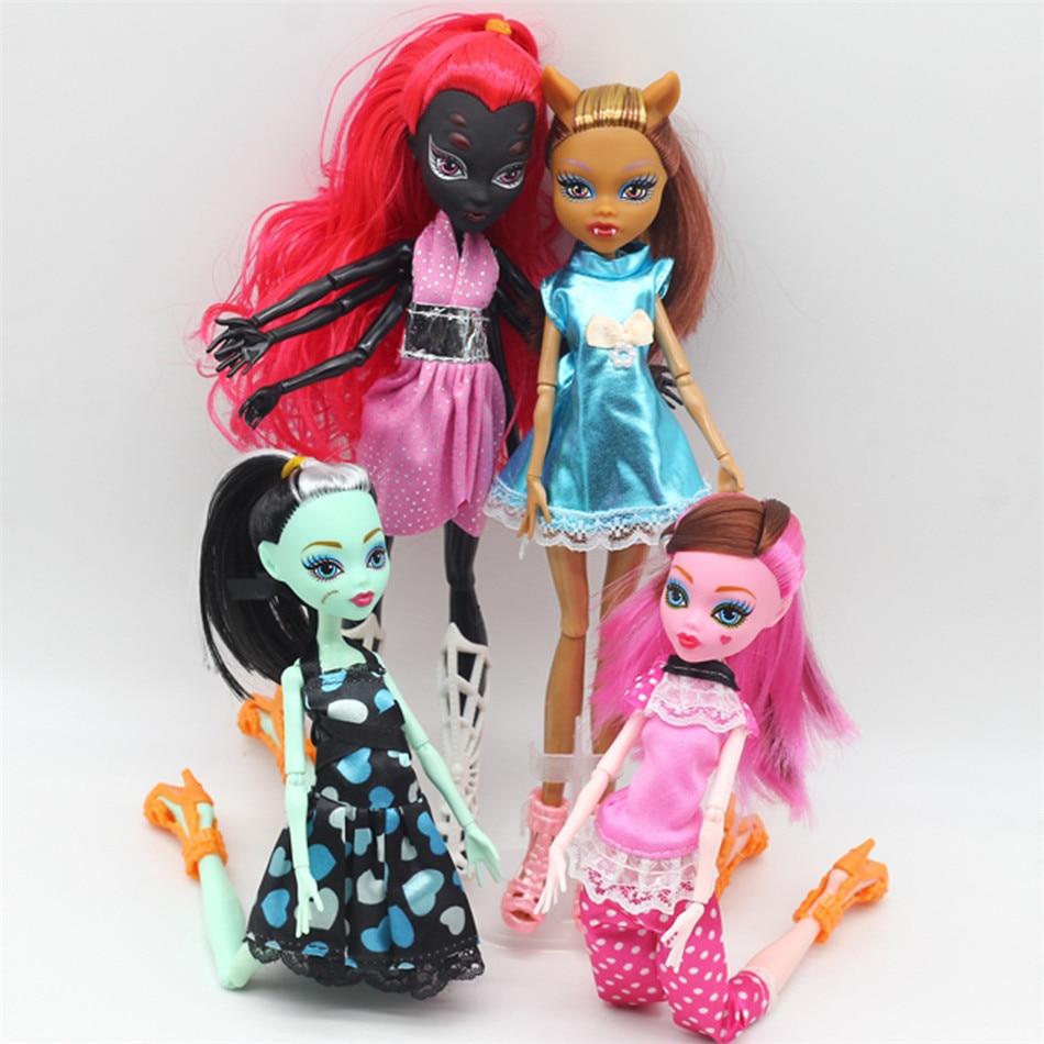 4 шт./компл. куклы новые высокие куклы монстр веселье высокое подвижное совместное тело модные куклы игрушки для девочек лучший подарок без коробки