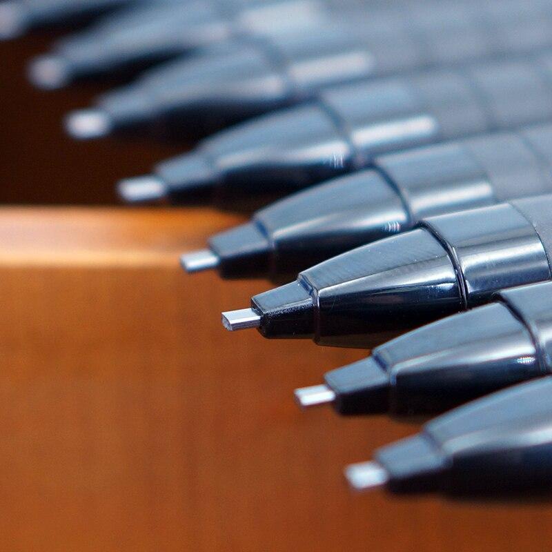 Dicke Flache Kopf Mechanische Knock Bleistift 2B Minen Für Studenten Examnation Beantwortung Karte Computer Leicht Identifizieren Deli S700