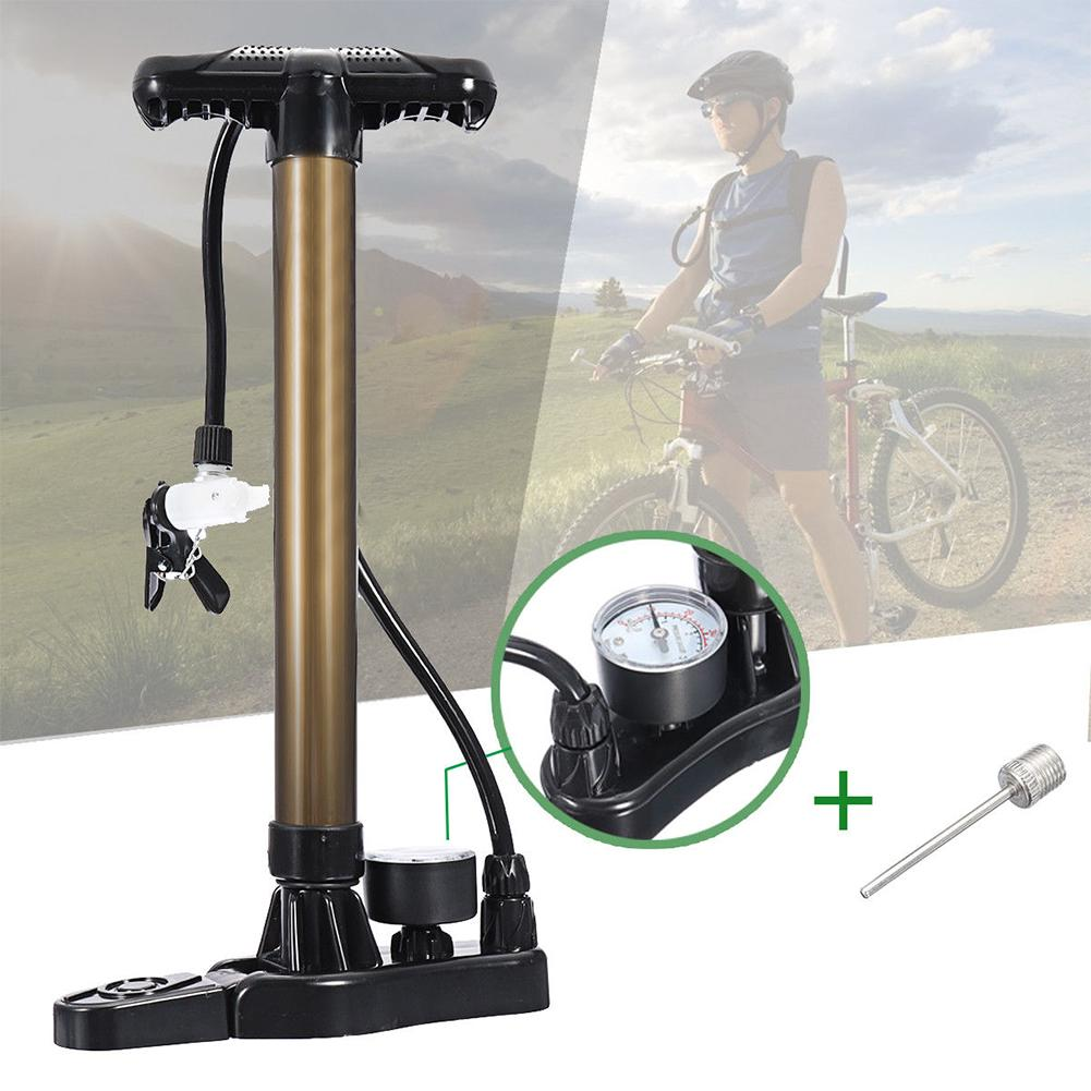 Vélo basket Football gonfleur pompe avec manomètre Portable vtt route vélo Air cyclisme pneu main pression vélo partie