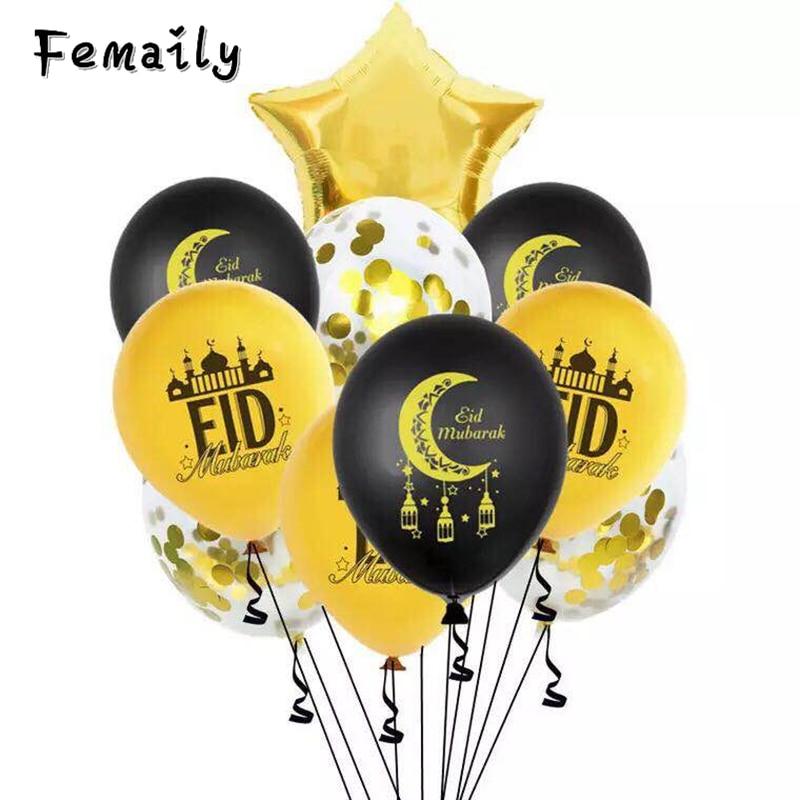 12 дюймов Eid Мубарак латексные шары Eid аль-Фитр украшения Малый воздушный шар Bairam Луна Рамадан kareen Globos Eid Мубарак Декор
