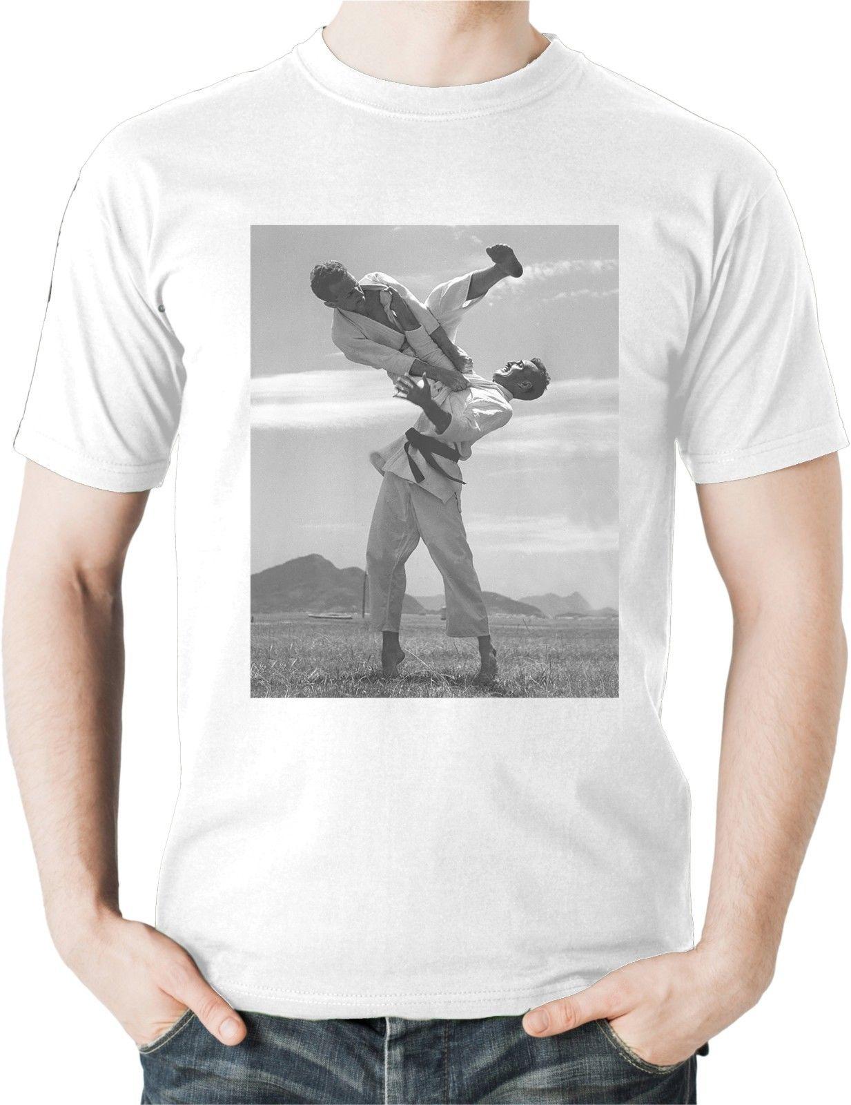 Свободные черные мужские футболки Homme Футболки Carlos Helio Gracie Flying Armbar футболка бразильский джиу джитсу BJJ Martials Футболка с принтом