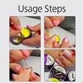 ROSALIND 3Pcs/Lot White nail brush For UV Gel Polish Soft Brushes for manicure Tiny Painting Nail Pattern nail art Pen