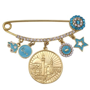 muslim islam Allah Masjid Turkish evil eye Stainless Steel Pin brooch  Baby Pin