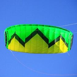 Vespa 3 sqm quad linha stunt kite com alça kite voando linha de energia kite surf kiteboaring trainer kite