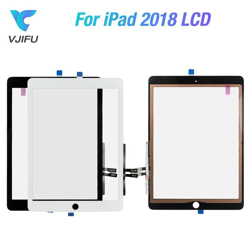Para iPad 9,7 2018 versión para iPad 6 6th Gen A1893 A1954 Digitalizador de pantalla táctil pantalla frontal Panel exterior montaje de vidrio