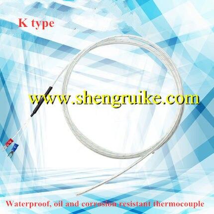 Impermeable aceite y resistente a la corrosión de soldadura conjunta termopar monolítico tubos de Teflon transparentes funda