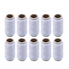 10 pièces/paquet blanc Polyester fil à coudre fils à coudre forts et durables pour les Machines à main bricolage accessoires de couture