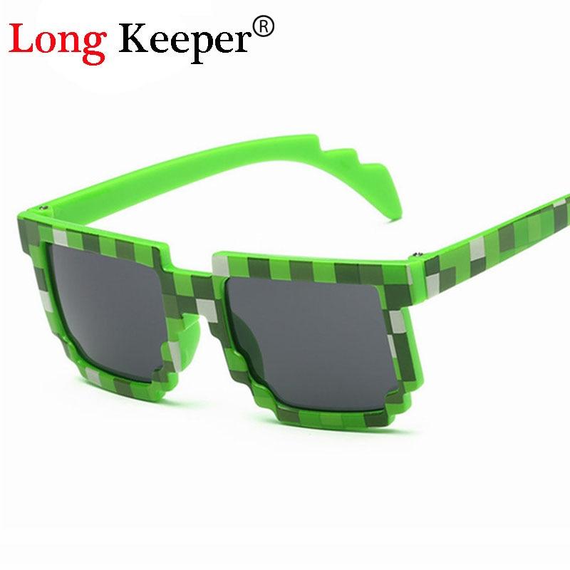 Nuevas gafas de sol de talla pequeña para niños de 4 a 12 años, gafas de sol para niños, gafas de píxel de mosaico para niños y niñas, niños-87