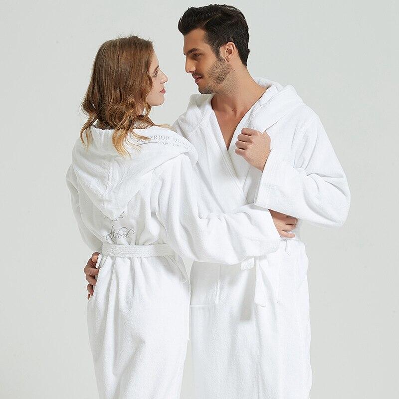 Albornoz de Invierno para mujer grueso abrigo de lana para mujer Kimono bata pareja camisón bata de baño ropa de dormir grande ropa de dormir larga regalo