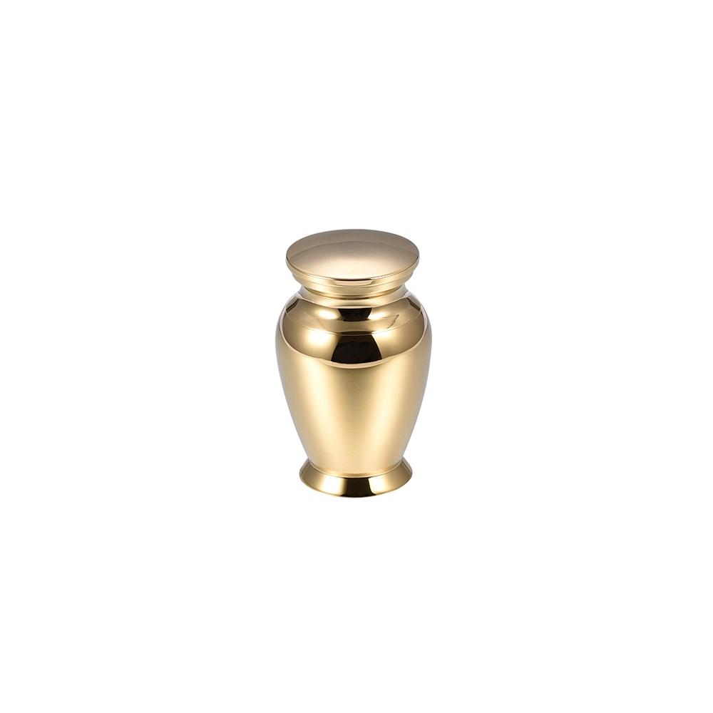 IJU033-6 Fashion 45*28MM Free Engravable Gold Stainless Steel Pet Memorial Urn Human Mini Cremation Urn for Keepsake