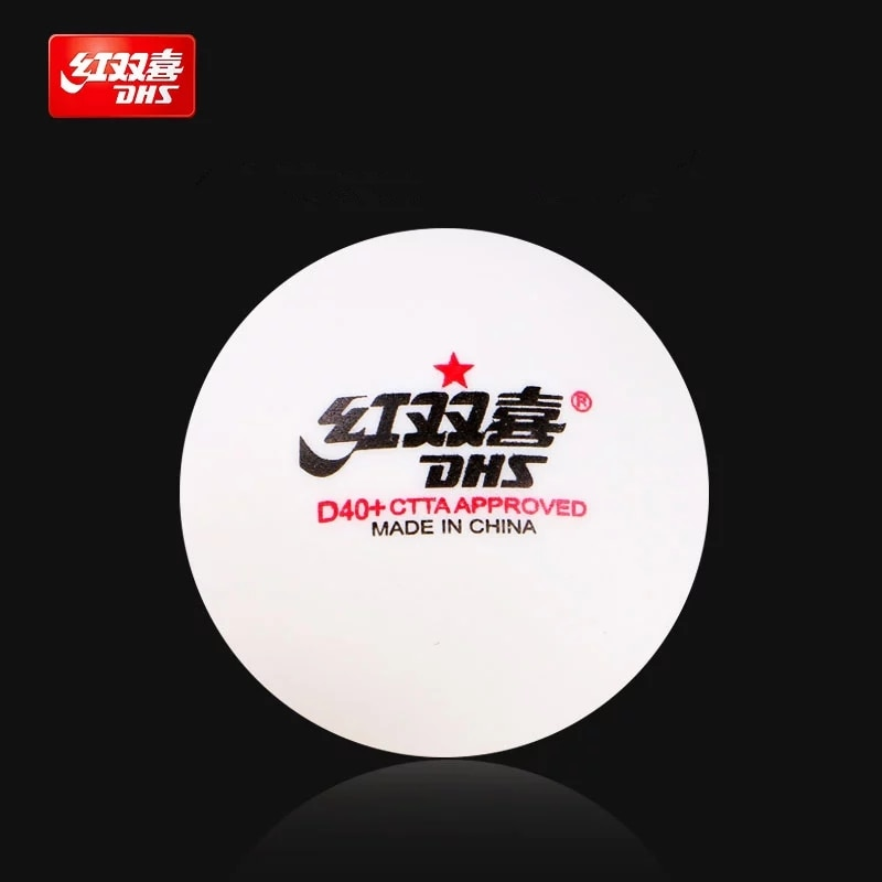 DHS 50/100 balls table tennis d40+ for training new material seamed 40 poly plastic ping pong