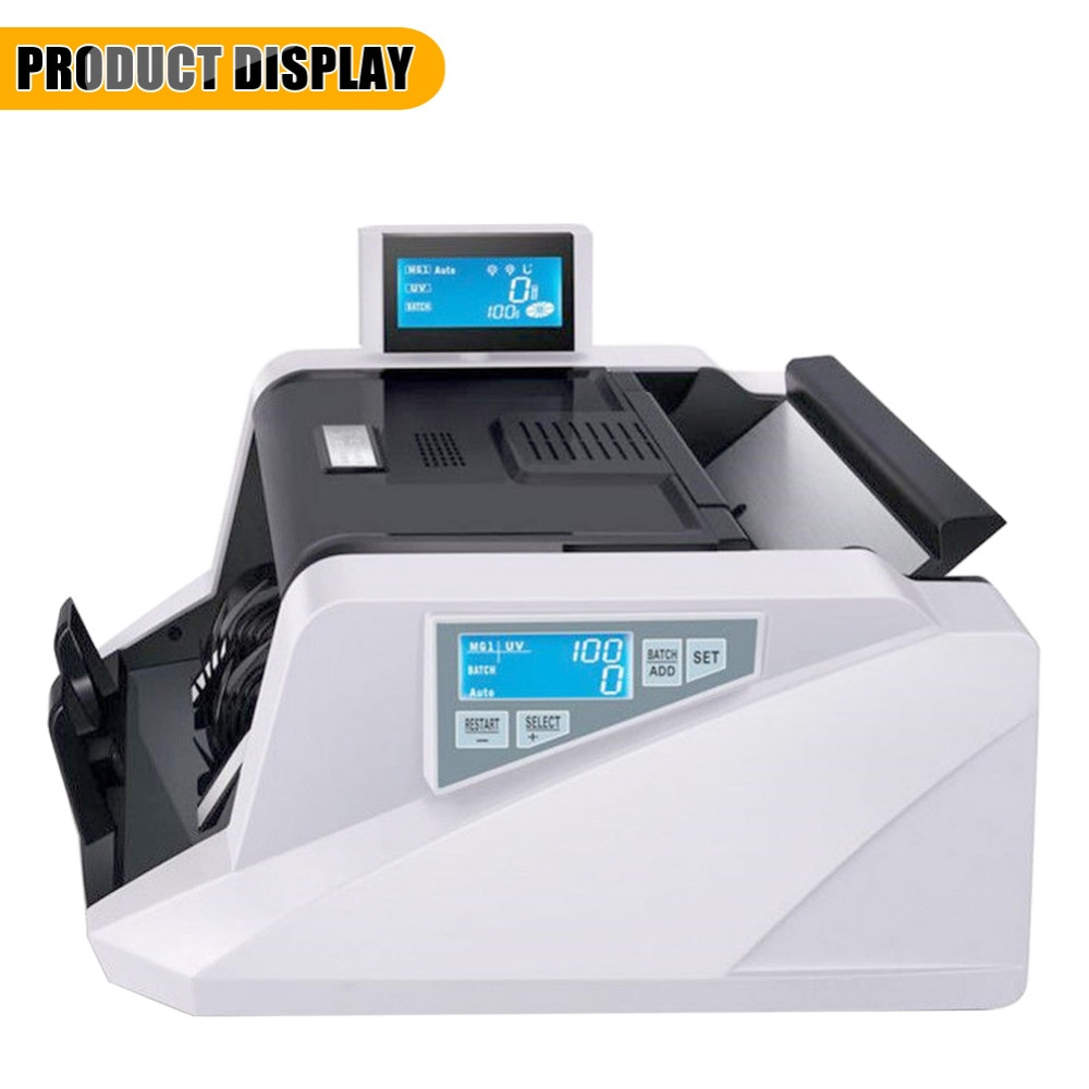 168UV/MG pantalla Digital contador de dinero EURO Dólar máquina de conteo de efectivo 220V