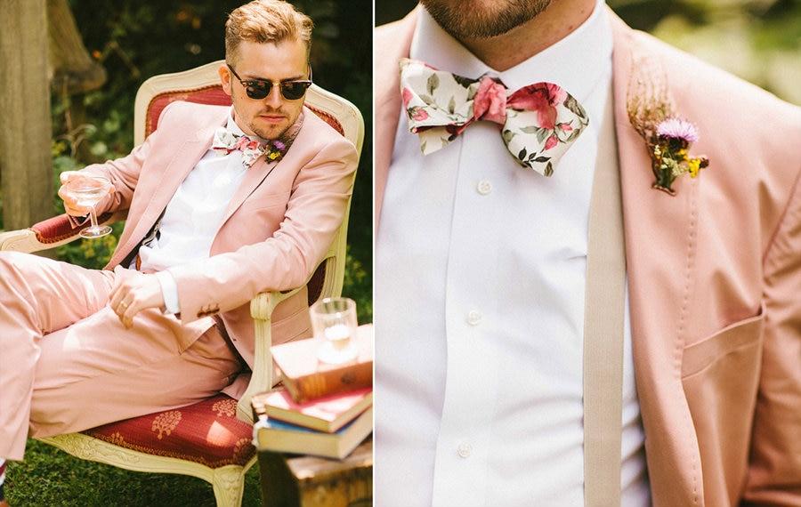 2017 أحدث معطف بانت تصاميم الساخن الوردي بدل زفاف للرجال العريس سترة سليم صالح 2 قطعة سهرة مخصص حفلة موسيقية السترة Masculino