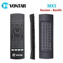 MX3 Air Mouse умный голосовой пульт дистанционного управления 2,4G Беспроводная клавиатура с подсветкой MX3 Pro для X96 mini KM3 A95X F2 H96 MAX Android TV Box