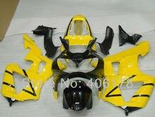 CBR900 929RR CBR929 00 01 Body Kit For CBR929RR 2000 2001 Black & Yellow Motorcycle Fairings (Injection molding)