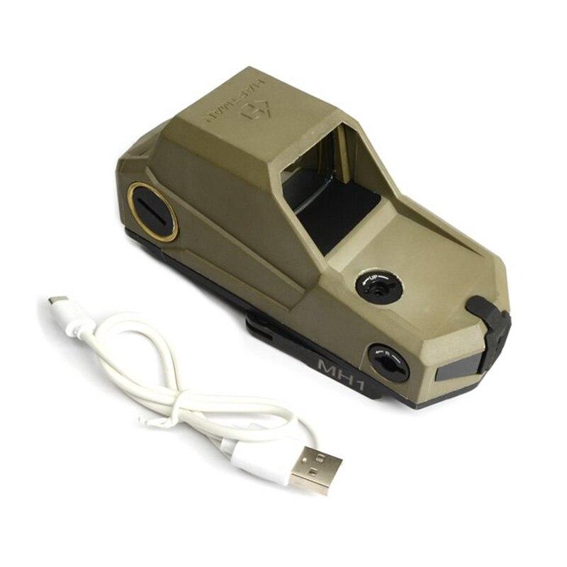 Тактический Hartman MH1 Красный точка зрения двойной датчик движения рефлекторный прицел с быстрым отсоединением и USB зарядное устройство отмеченная версия