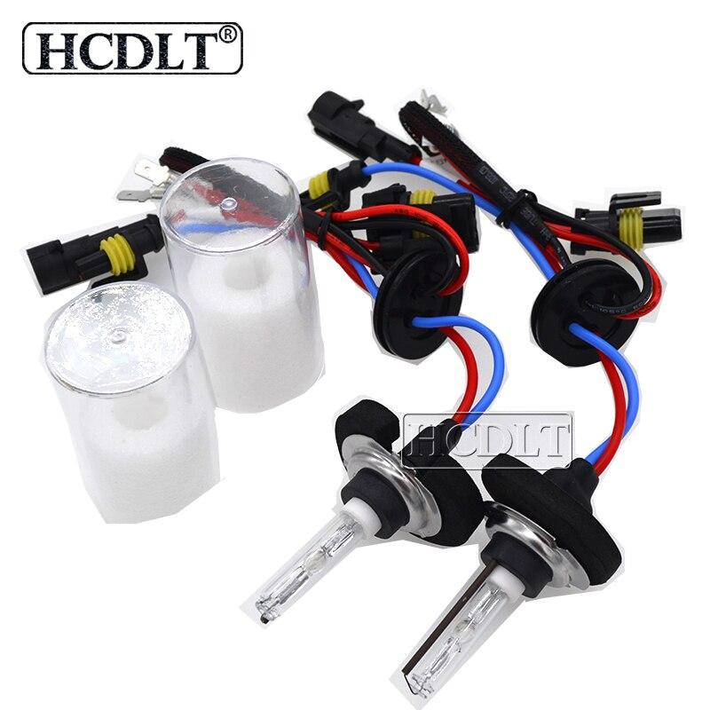 HCDLT AC 35W xenón Cnlight recto bombilla HID D2H H1 H3 H11 9005 9006 H7 Base de Metal Cnlight 6000K 4300K 5000K de luz de coche lámpara HID