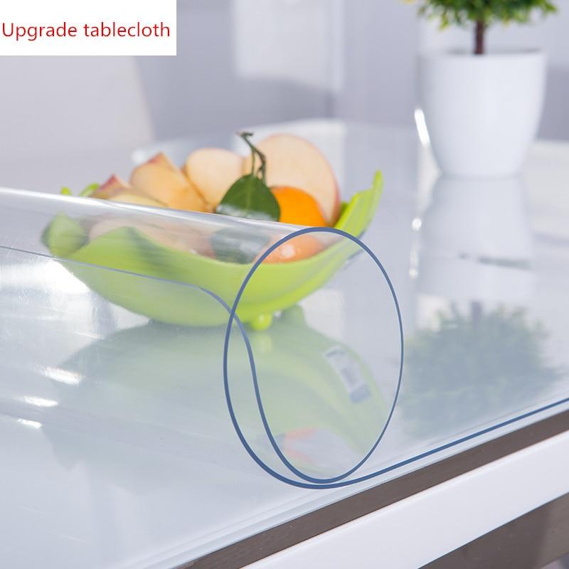 Обновленная высокая прозрачность без запаха скатерть ПВХ пластик водостойкая маслостойкая термостойкая 1,0 мм коврик под заказ