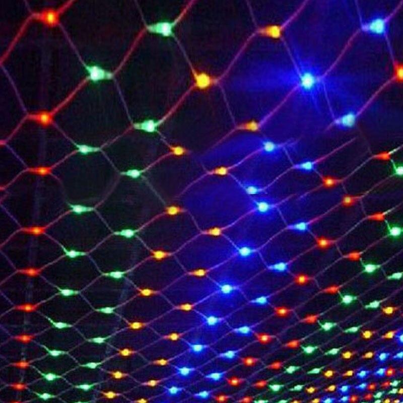 1.5X1.5m светодиодные сетчатые гирлянды, Рождественский Декор, сказочный свет, гирлянда для улицы, дома для свадьбы, сетчатые занавески, садовые огни, 8 режимов
